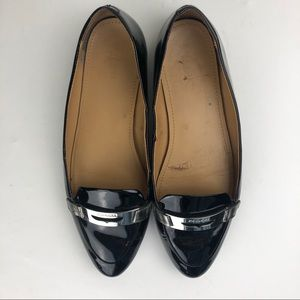 Coach Ruthie Black Loafers Buckle 10